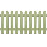 vidaXL Picket Fence Impregnated Pinewood 170x80 cm 6/9 cm