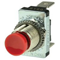 BEP CONTACT SWITCH 10A SPST OFF-(ON) RED