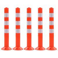 vidaXL Traffic Control Bollards 5 pcs Plastic 75 cm