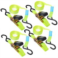 ProPlus Tie Down Strap with Ratchet + 2 Hooks Set of 4 5 m 320205