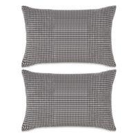 132901 vidaXL Cushion Set 2 pcs Velour 40x60 cm Grey