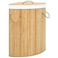 vidaXL Bamboo Corner Laundry Basket 60 L