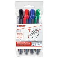 edding Whiteboard Marker 4pcs Multicolour Retractable 12