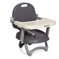 Baninni Booster Seat Sopra Grey and White