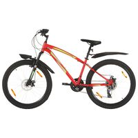 vidaXL Mountain Bike 21 Speed 26 inch Wheel 42 cm Red