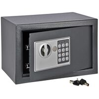 HI Safe with Electric Lock Dark Grey 31x20x20 cm