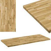 vidaXL Table Top Solid Oak Wood Rectangular 44 mm 120x60 cm
