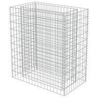 vidaXL Gabion Raised Bed Galvanised Steel 90x50x100 cm