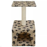 vidaXL Cat Tree with Sisal Scratching Post 55 cm Beige Paw Print