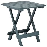 vidaXL Folding Garden Table Green 45x43x50 cm Plastic