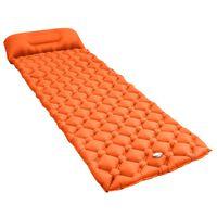 vidaXL Inflatable Air Mattress with Pillow 58x190 cm Orange