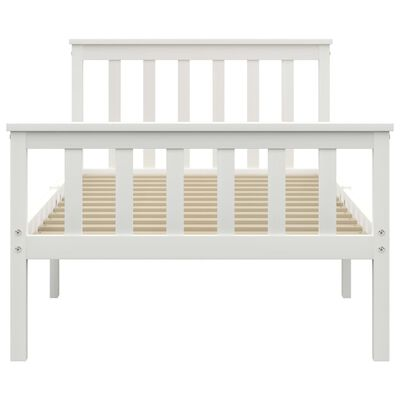 vidaXL Bed Frame White Solid Pinewood 100x200cm