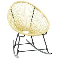 vidaXL Outdoor Acapulco Chair Poly Rattan Beige