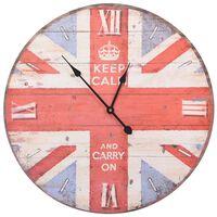 vidaXL Vintage Wall Clock UK 60 cm