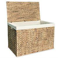 vidaXL Laundry Basket 82x42.5x52.5 cm Water Hyacinth