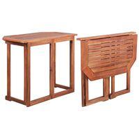 vidaXL Bistro Table 90x50x75 cm Solid Acacia Wood