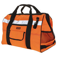 Toolpack High-Visibility Classic Tool Bag Prominent Orange and Black