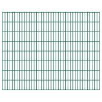 vidaXL 2D Garden Fence Panels 2.008x1.63 m 38 m (Total Length) Green
