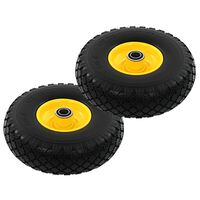 vidaXL Sack Truck Wheels 2 pcs Solid PU 3.00-4 (260x85)