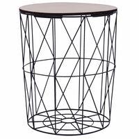 vidaXL Coffee Table Black ? 47 cm