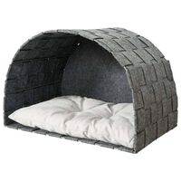 TRIXIE Cat Cave for Wall Mounting Lennie 45x45x30 cm Felt Grey