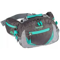 Abbey Outdoor Waist Bag Anthracite and Emerald  21QE-AGG-Uni