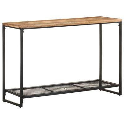 vidaXL Console Table 110x35x75 cm Solid Acacia Wood