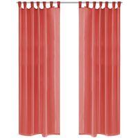 vidaXL Voile Curtains 2 pcs 140x245 cm Red