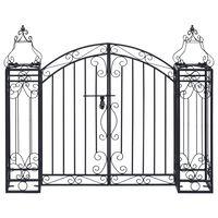 vidaXL Ornamental Garden Gate Wrought Iron 122x20.5x100 cm