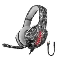 Gaming headset PS4 / Xbox / PC Camouflage gray LED