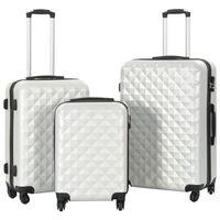 vidaXL Hardcase Trolley Set 3 pcs Bright Silver ABS