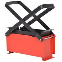 vidaXL Paper Log Briquette Maker Steel 34x14x14 cm Black and Red