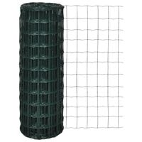vidaXL Euro Fence Steel 25x0.8 m Green