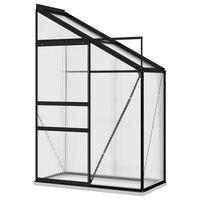 vidaXL Greenhouse Anthracite Aluminium 1.44 m³
