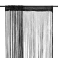 vidaXL String Curtains 2 pcs 100x250 cm Black