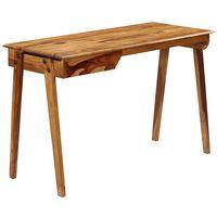vidaXL Writing Desk 118x50x76 cm Solid Sheesham Wood