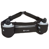 Pure2Improve Running Belt with 2 Bottles Black and Grey