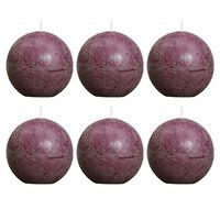 Bolsius Rustic Ball Candle 80 mm Purple 6 pcs