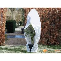 Nature Winter Fleece Cover with Zip 70 g/sqm White 2.5x2x2 m