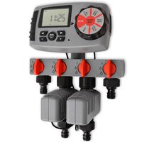 vidaXL Automatic Irrigation Timer with 4 Stations 3 V