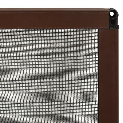 vidaXL Plisse Insect Screen for Windows Aluminium Brown 80x160 cm