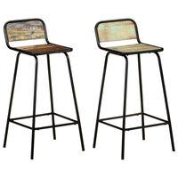 vidaXL Bar Chairs 2 pcs Solid Reclaimed Wood
