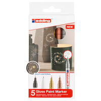 edding Gloss Paint Marker 5pcs Multicolour 780
