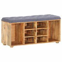 vidaXL Hall Bench 100x35x47 cm Solid Mango Wood