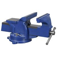 vidaXL Bench Vice with Swivel Base 125 mm