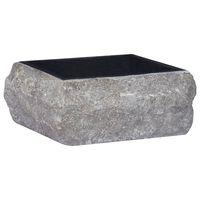 vidaXL Sink Black 30x30x13 cm Marble