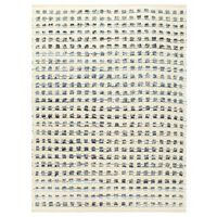 vidaXL Rug Denim Wool 120x170 cm Blue/White