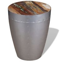 vidaXL Aviator Stool Solid Reclaimed Wood
