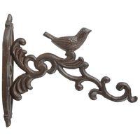 Esschert Design Hanging Basket Hook Brown Cast Iron BR21