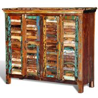 vidaXL Reclaimed Cupboard Solid Wood with 4 Doors